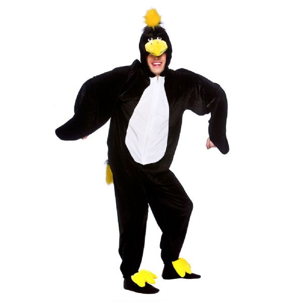 Adult Blackbird Costume for Animals Bugs Creatures Fancy Dress Mens Ladies